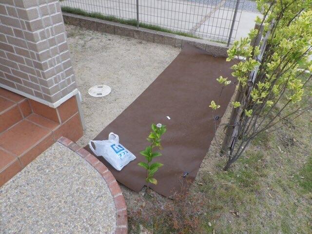 防草シート DIY