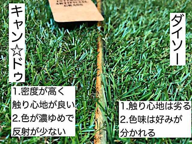 キャン★ドゥの人工芝の見た目や品質